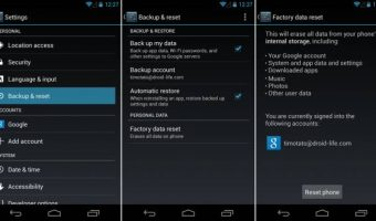 factory Reset android phone,how to factory reset