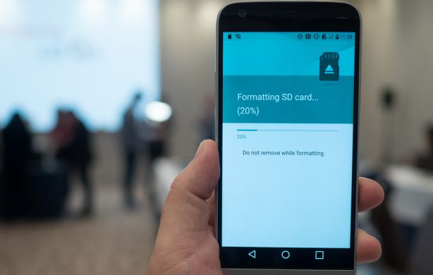 Android issues,format sd card process