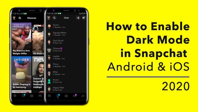 dark mode for snaphat,how to enable it