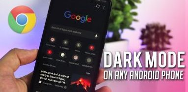 google chrome dark mode, how to enable night mode on android device, dark theme