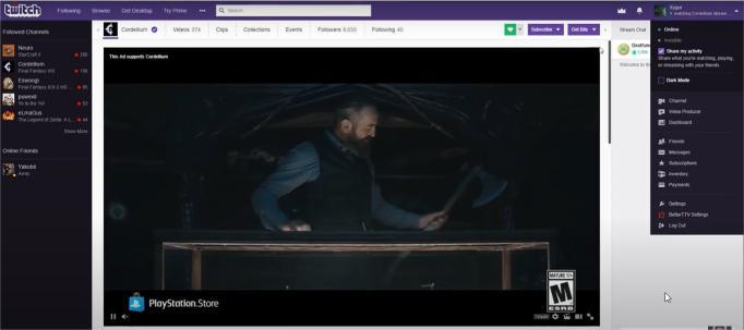 twitch dark mode, how to turn night mode on twitch